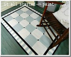 Our porch needs a paint job this spring, and our dog keeps eating our rugs, so this is a great option!
