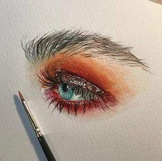 And videos art hoe, gcse art, art sketchbook, art sketches, art drawi Eye Sketch, Arte Sketchbook, Eye Painting, Art Hoe, Eye Art, Art Drawings Sketches, Aesthetic Art, Art Inspo, Amazing Art