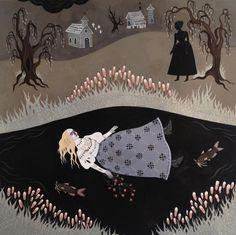Katy Horan's Dark, Folk-Inspired Paintings