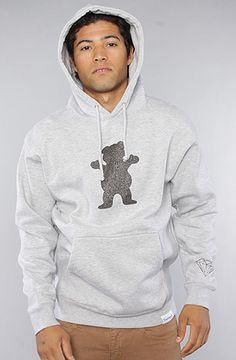 Grizzly Grip The Bear Grip Hoody in Grey :