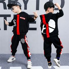 2 Pcs Fashion Children Clothes Set Boys Girls Autumn Hoodies + Haren Pants Cotton Tracksuit vetement garcon 4 6 8 10 12 14 Years Well note please :According to Cute Boy Outfits, Hip Hop Outfits, Kids Outfits, Trendy Hoodies, Boys Hoodies, Hoodie Sweatshirts, Boy Fashion, Fashion Outfits, Fashion Children