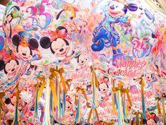 ディズニーリゾート35周年バルーン Tokyo Disneyland Resort, Hong Kong Disneyland, Disney Parks, Walt Disney, Disney Balloons, Have A Nice Trip, Mickey Minnie Mouse, Disney Love, Glitters