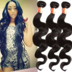"High Quality Black16""-20"" Body Wave Remy Brazilian Human Hair Extension US Ship #WIGISS #HairExtension"