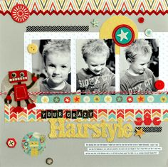 #papercraft #scrapbook #layout.  Your Crazy Hairstyle