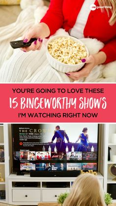 Looking for a new TV show to watch while you're stuck at home? I'm sharing my top picks for binge-able TV shows here plus picks from my team and OGT readers! Tv Watch, Movies To Watch, Best Tv Shows, New Shows, Netflix Streaming, Home Tv, Tv Channels, Moving Pictures, New Tricks