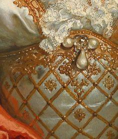 Nicolas de Largillière - Portrait of a Woman. Detail.