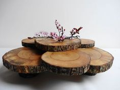 Cupcake Stand, Rustic Centerpiece, Tree Slices Cupcake Stand, Wood Slice Cupcake Stand, Treats Display, Rustic Wedding Decor on Etsy, $82.20