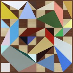 Chessboard Painting (Expanded Centre) by Gemma Smith, 2010, acrylic on timber veneer    180 cm × 180 cm http://www.sarahcottiergallery.com/artist/20/Gemma_Smith.htm#a20