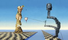 """Picture Piece: Salvador Dalí and Walt Disney   Frieze _ _ _  I see weighing the """"pros and cons""""!"""