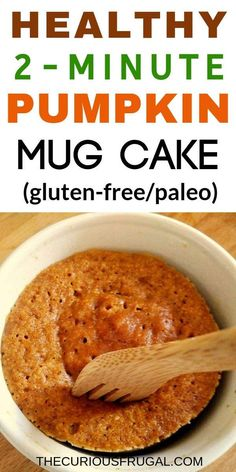 Recipes Breakfast Pumpkin mug cake recipe. This healthy pumpkin mug cake only takes 2 minutes to make in the microwave. It's an easy and flourless pumpkin mug cake that is paleo and gluten-free! A yummy treat for breakfast, a snack, or a healthy dessert. Pumpkin Mug Cake Recipe, Cake Mug, Pumpkin Dessert, Sugar Pumpkin, Pumpkin Puree, Pumpkin Pumpkin, Paleo Dessert, Pumpkin Bread, Mug Recipes