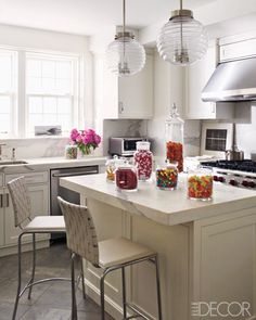 Love the light fixtures and countertops
