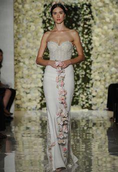 Formfitting Sheath Wedding Dress | Reem Acra Wedding Dresses Fall 2015 | Maria Valentino/MCV Photo | Blog.theknot.com