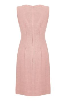 1960s Susan Small Pale Pink Linen Dress | From a collection of rare vintage day dresses at https://www.1stdibs.com/fashion/clothing/day-dresses/
