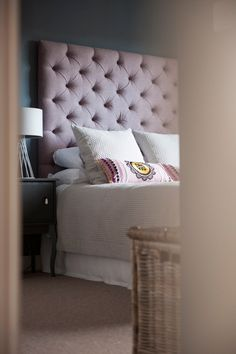 Stylish Interior Design is a light, comfortable, sophisticated and elegant take on interior design and decor. Decorating Blogs, Pale Pink, Interior Design, Stylish Interior, Design Projects, House Design, Pillows, Bedroom, Inspiration