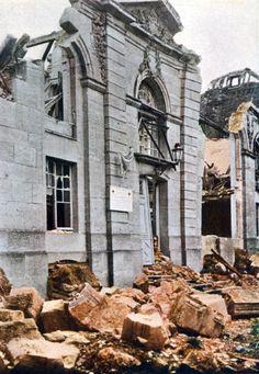 WW1, Verdun.  The heavily damaged Princerie.Battle of Verdun September…