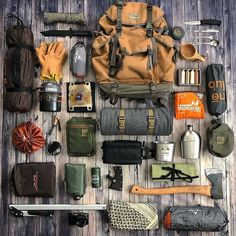It's and we've created a brand new list of essential survival items for this year! The best bushcraft gear, survival tools, and prepping gear, all in this short list. Bushcraft Camping, Bushcraft Backpack, Bushcraft Gear, Camping Survival, Camping Gear, Outdoor Camping, Camping Photo, Edc Backpack, Solo Camping