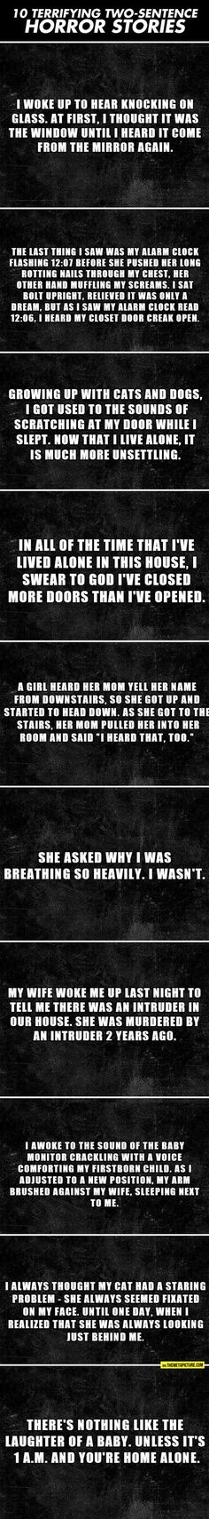 Scary Two Sentence Horror Stories