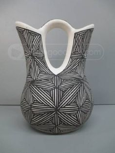 Acoma Native American Pottery Double Vase Lollis