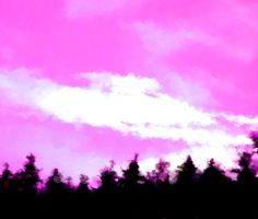 Forested horizon under cloudy sky - pink white black pattern - beautiful for curtain or cover - digitally painting Got Print, Any Images, Black Pattern, Dawn, Fine Art, Landscape, Metal, Artwork, Artist