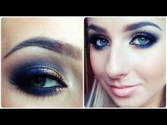 Prom Makeup Tutorial / Quick Navy Blue Smokey Eye