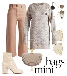 """""""nudes & knits"""" by constantinerenakossy on Polyvore featuring Apiece Apart, Karen Walker, Chloé, Maison Margiela, Gucci and May Moma"""