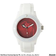 Red Rose Custom Sporty White Silicon