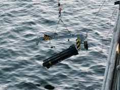 HMS Brocklesby, one of the Royal Navy's Mine Counter-Measures Vessels, has destroyed a mine laid by pro-Qadhafi forces in the port of Mistrata on the Libyan coast. Image shows the Seafox Under Water Mine Disposal System being launched from HMS Brocklesby.