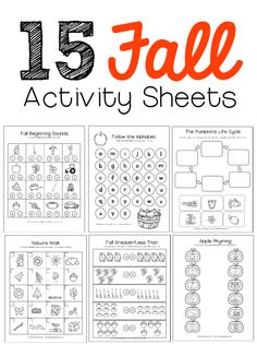 15 fall worksheets for preschool and kindergarten - I want to try the fall scavenger hunt.