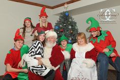 Santa Claus Mrs. Claus and his little Elves at Christmas in the Village 2015! Santa I must say you had some amazing Elf's this year heart emoticon