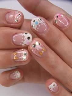 This is one of my faves! It looks like jellies! Nail Polish Style, Nail Polish Designs, Nail Art Designs, Fabulous Nails, Gorgeous Nails, Pretty Nails, Cute Nail Art, Nail Art Diy, Fancy Nails