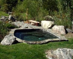 Built in hot tub...looks way better than those above ground versions. Relaxation to the rescue!