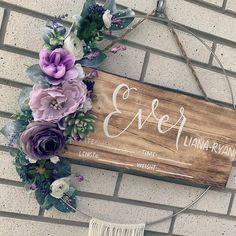 Hospital Door Signs, Hospital Door Hangers, Baby Door Signs, Birdhouse Craft, Floral Hoops, Boho Baby, White Roses, Silk Flowers, Floral Wreath