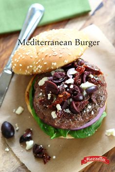 Looking to impress your friends and family with a fun, new summer recipe? Look no further than this Mediterranean Burger. All the flavors of a juicy, grilled burger with a Mediterranean twist! Learn how.