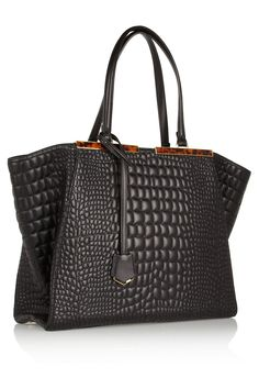Busines chic textured tote