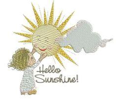 Hello Sunshine-Goodnight Moon 5x7