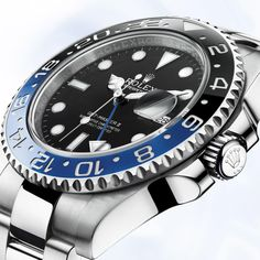 The Rolex GMT-Master II is the watch of choice for airline pilots and serious travellers. Discover more about its features on the Official Rolex Website. Rolex Watches For Men, Fine Watches, Sport Watches, Cool Watches, Wrist Watches, Men's Watches, Rolex Gmt Master 2, Rolex Batman, Gmt Batman