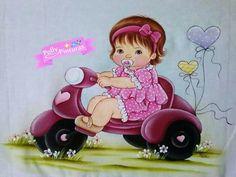 Pintura em tecido   para bebês   meninas                                                                                                                                                                                 Mais