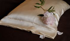 Silk Pillowcase, Ivory Charmeuse Silk, Standard or King Available, French Seamed, Hypoallergenic, for Sensitive Skin, and Hair Care