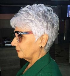 older women hairstyles short over 70 Feathered Silver Pixie Hairstyle Short Hair Over 60, Short Hair Older Women, Haircut For Older Women, Short Hair With Layers, Old Man Haircut, Mom Hairstyles, Short Hairstyles For Women, Natural Hairstyles, Beautiful Hairstyles