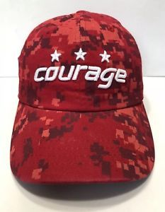 b261dd1bea6 NHL Washington Capitals Cap Hat Adult Adjustable Red Camo Zephyr Z Hat  Cotton