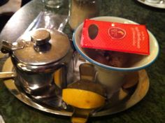 Apple and elderflower tea at Gerbeaud Hotel.