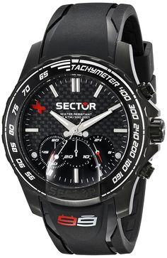 Sector Men's R3271677001 Analog Display Quartz Black Watch