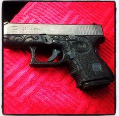 Glock 27 #stippled Find our speedloader now!  www.raeind.com  or  http://www.amazon.com/shops/raeind