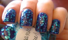 Absolutely drooling. And I don't even like blue polish!    new york summer - hot purple lynnderella - thank blue!