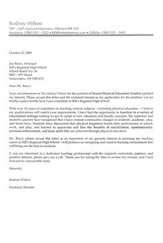 teacher cover letter example - Template For Cover Letter For Resume