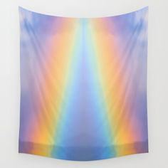 Inside the Rainbow Wall Tapestry by crismanart Wall Tapestries, Wall Hangings, Tapestry, Rainbow Wall, Tablecloths, Outdoor Walls, Hand Sewn, Vivid Colors