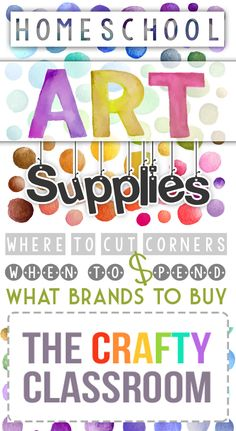 What and Where to Buy Homeschool Art Supplies. Over the years we've  had the opportunity to try out MANY different arts and crafts supplies.  Often we've been surprised that an off brand has a better quality product then some of the more popular, well known brands.