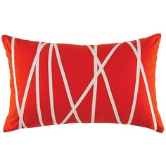 """Kas Australia Trapeze Wires Decorative Pillow, 14"""" x 21"""" ($40) ❤ liked on Polyvore featuring home, home decor, throw pillows, pillows, orange, orange home accessories, orange throw pillows, wire home decor, kas australia and orange home decor"""