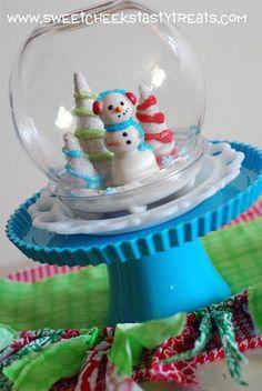 Snowman Cake Pop Snowglobe