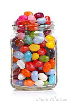 Jellybeans in a jar. Jelly beans sugar candy snack in a jar isolated on white , Jelly Beans, Jelly Bean Jar, Candy Dispenser, Snack Jars, Penny Candy, Gula, Sugar Candy, Colorful Candy, Candy Table